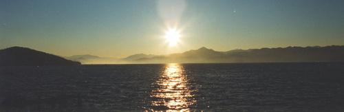 小浜湾・冬の朝
