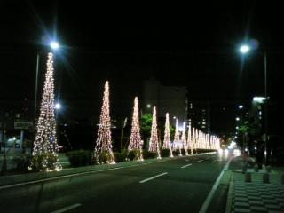 JR大津駅前のイルミネーション