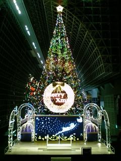 JR京都駅のクリスマスツリー