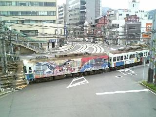 源氏物語千年紀ラッピング電車2