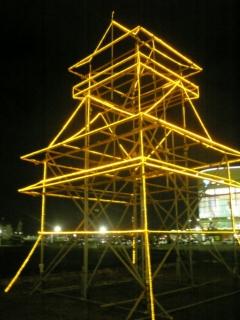 【滋賀】大津城ライトアップ?